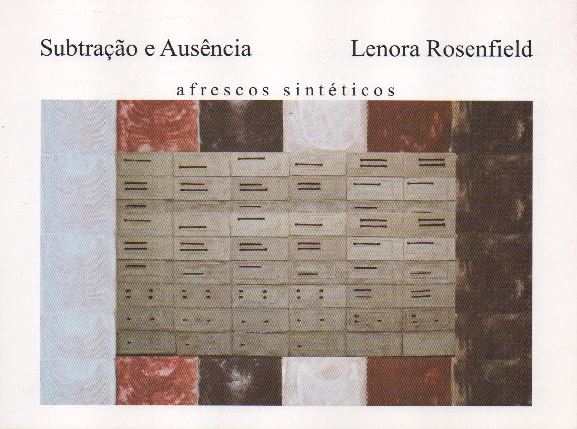 Subtração e Ausência, 2004/2005